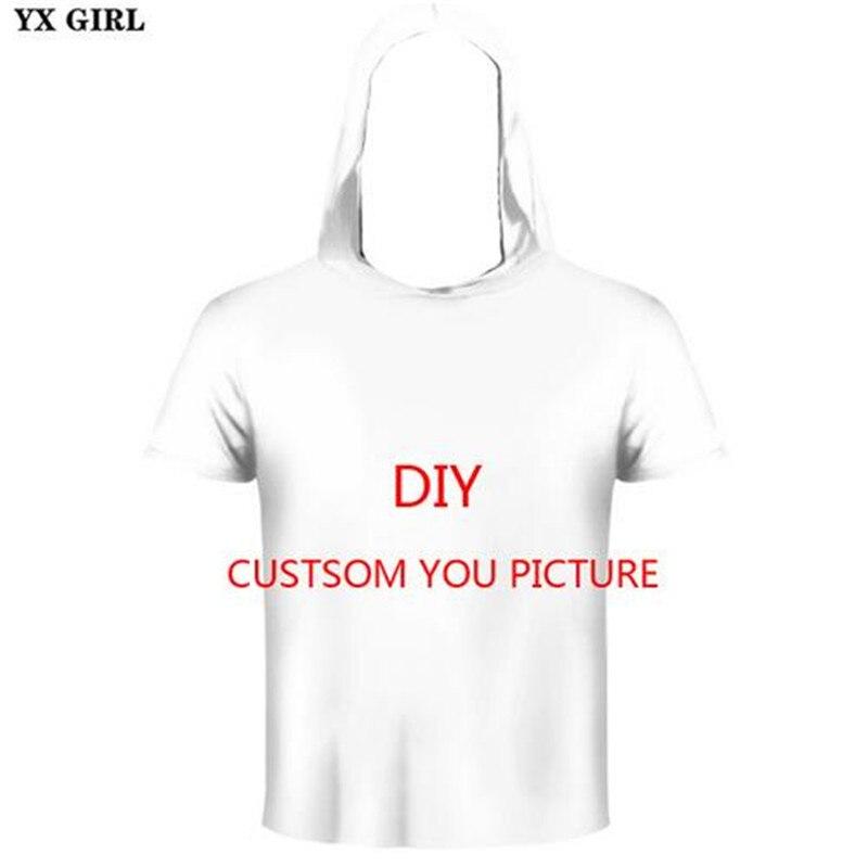 YX GIRL 3D Print DIY Custom Design Men/Women Hooded T shirt summer Casual t shirt Wholesalers Suppliers For Drop Shipping
