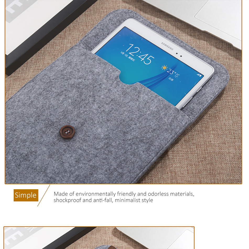 Business 8inch Tablet Sleeve Bag Cover For iPad Mini 1234 Xiaomi Pad 123 10.5inch Protective Pouch Case For iPad 2017 Air 1 (4)