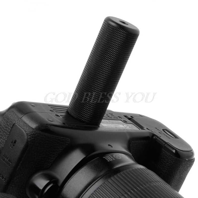 1/4 ''מתכת ידית יד גריפ מייצב מקל עבור LED פלאש אור וידאו מצלמה מייצבים