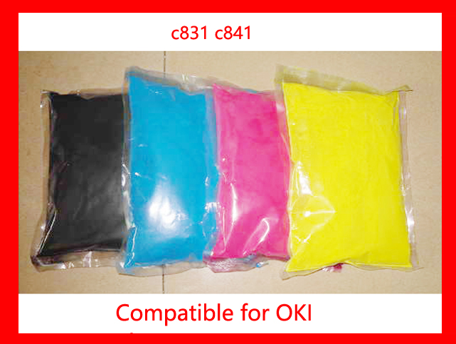 Free Shipping Compatible for oki c831 c841 Chemical Color Toner Powder Refill toner cartridge printer color powder 4KG 20pcs 45807115 toner cartridge chip for oki data es5112 es4132 es4192 es5162 es 5112 4132 4192 5162 printer powder refill reset