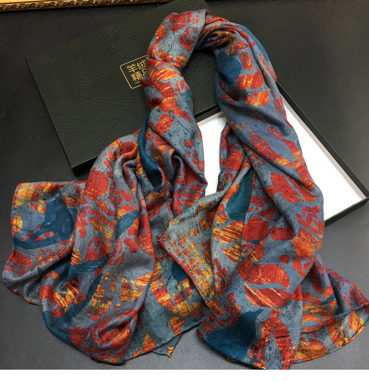 Peacock Flame Lady Cashmere Square Scarf Headband Scarves Multi Function Shawl Decoration Wholesale Drop Shipping YR15