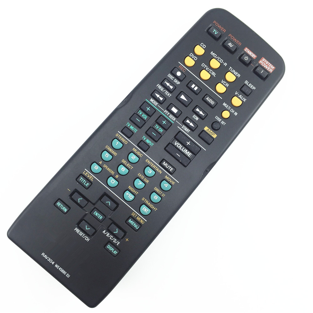 remote control suitable for Yamaha RAV304  Home Theater Amplifier CD DVD  WE45890 EU for RX-V457 YHT-150 YHT-160 YHT-550 YHT-560 new original amplifier remote control rav283 for yamaha yht 280 yht 380 yht 685