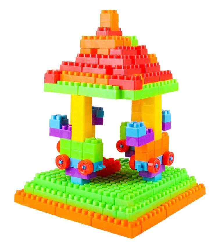 Купить с кэшбэком 72-400 PCS Baby Toys Large Size Building Blocks Set For Children Plastic Assembly Model Big Bricks DIY Learning Educational Toys