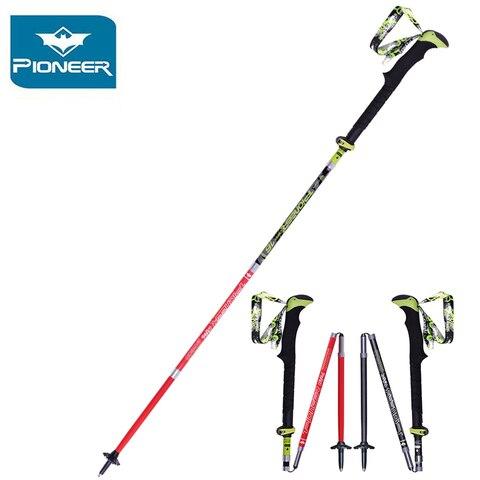 pioneer nordic walking stick 100 polos trekking carbono ultraleve varas polo caminhadas bengala dobravel ajustavel