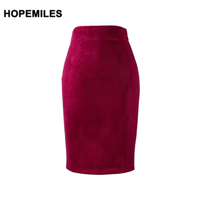 Faldas de tubo de mujer de moda de color rojo vino chicas delgadas media  falda nuevo b9308523612b