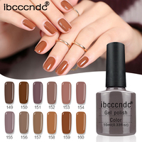 Newest 12Pcs Lot 10ML Brown Series Set Nail Gel Polish Soak Off Gel Polish With UV