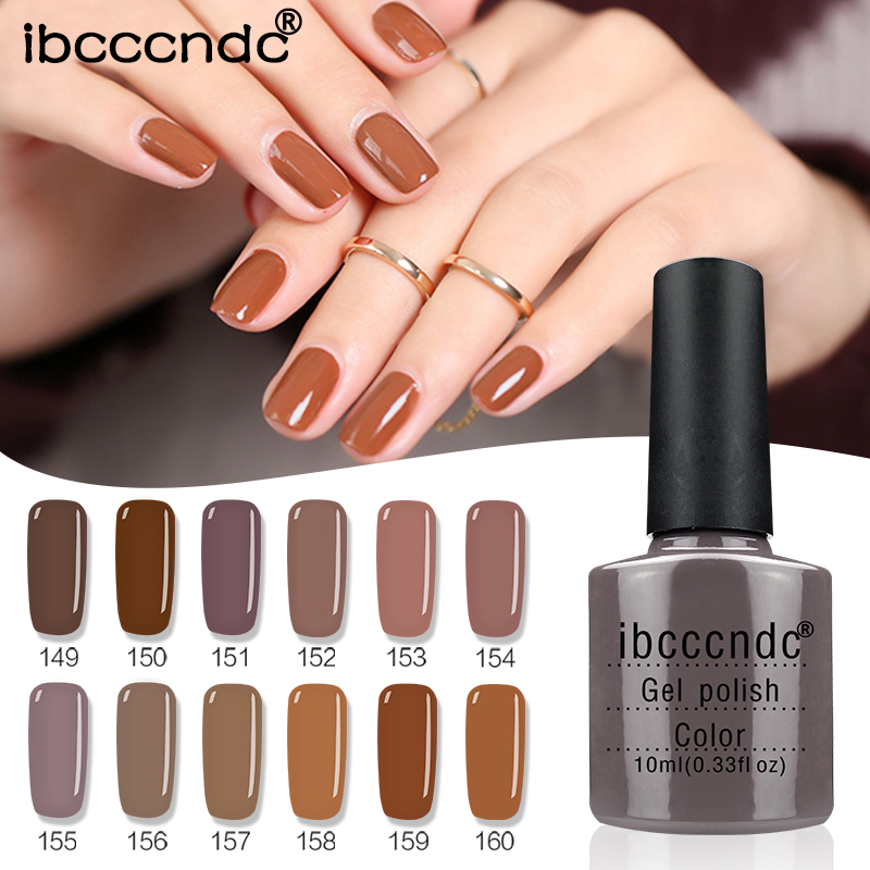 Newest 12Pcs/Lot 10ML Brown Series Set Nail Gel Polish Soak Off Gel Polish With UV Lamp Nail Polish Gel Varnish With Gift Box cnhids set 36w uv lamp 7 of resurrection nail tools and portable package five 10 ml soaked uv glue gel nail polish