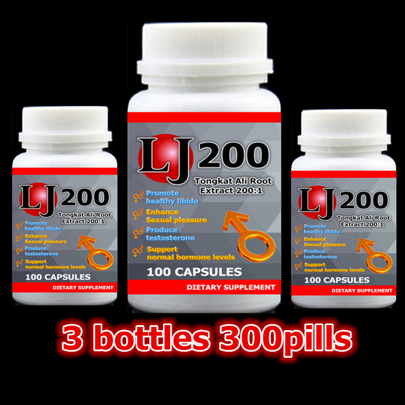 3 bottle 300pcs Tongkat Ali 200:1 Extract,Eurycoma Longifiolia,Enhance man's stamina, free shipping 20mm threaded dia 20mm stroke pneumatic shock absorber kvmkh