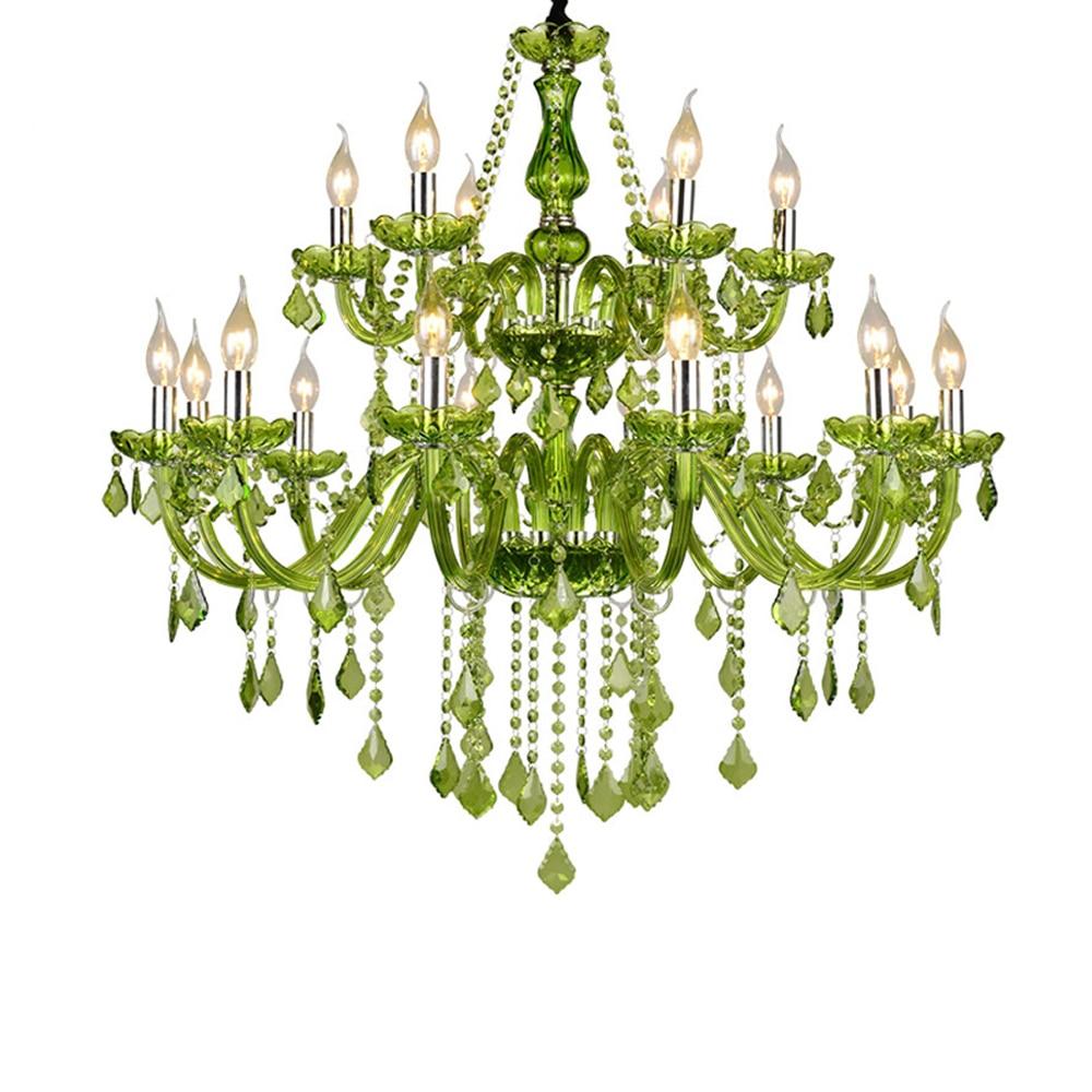 American Style Chandeliers European Style Living Room Hanging Light for Restuarant Bedroom Indoor Chandelier Lighting green