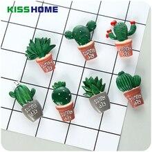Creative Cute Cactus Plant Refrigerator Stickers Magnetic Decorative Message Fridge For Kitchen Black Board