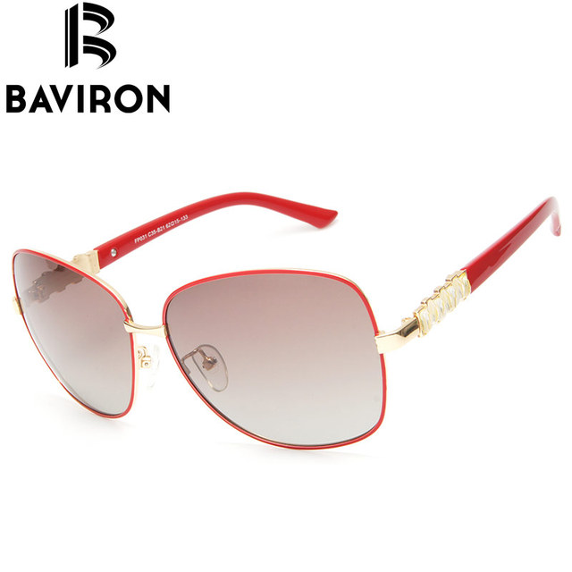 BAVIRON Women Tinted Gorgeous Sunglasses Polarized Glasses Original High Fashion Design Sun Glasses Casual Outfits Hipster FP031