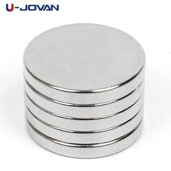 U-JOVAN 5 piezas 20x3mm N35 Mini imán permanente de la tierra rara súper fuerte 20*3 pequeño imán redondo de neodimio 20x3