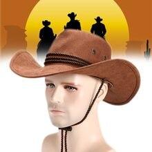 Los hombres y las mujeres occidental sombrero de vaquero Unisex montar tapa  accesorio de moda de dc44b12c3db