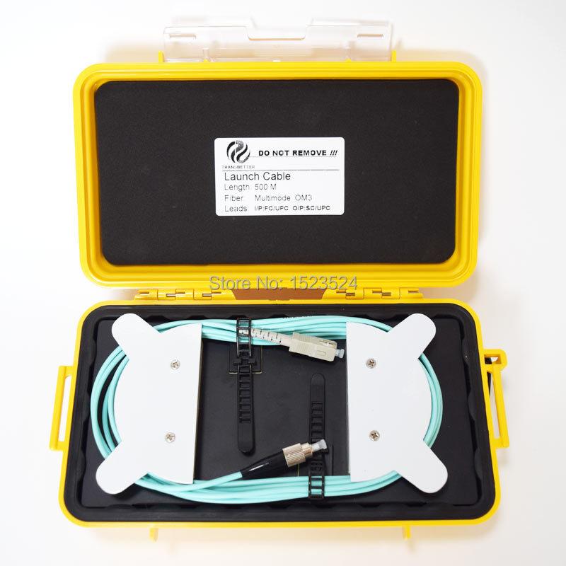 OTDR Dead Zone Eliminator,Fiber Rings ,Fiber Optic OTDR Launch Cable Box MM OM3 FC/UPC-SC/UPC 500M