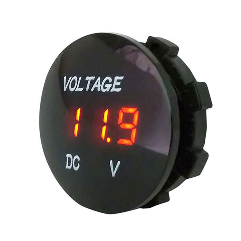 Vehemo черный DC5-48V измеритель напряжения дисплей напряжения ATV прочный светодиодный автомобильный вольтметр Модифицированная лодка мотоциклы автомобильные аксессуары - Цвет: Оранжевый