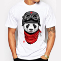 Newest 2016 men's fashion short sleeve cute panda printed t-shirt Harajuku funny tee shirts Hipster O-neck cool tops