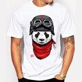 Newest 2016 men's fashion short sleeve cute panda printed t-shirt Harajuku funny tee shirts Hipster O-neck cool tops