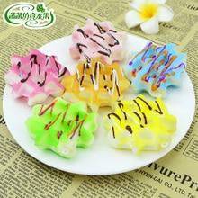 Artificial bread waffle fruit jam cake mcmuffins model dessert props