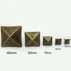 10PCS/LOT Antique Bronze Upholstery Nail Thumbtack Square Pushpin Doornail Hardware Jewelry Box Sofa Decorative Tacks Stud(China)