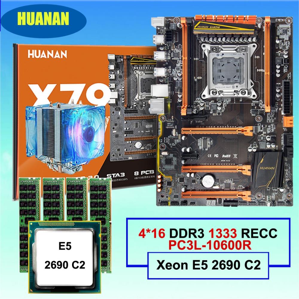 Build perfect computer HUANAN deluxe X79 LGA2011 motherboard CPU Xeon E5 2690 C2 RAM 64G(4*16G) DDR3 1333MHz RECC