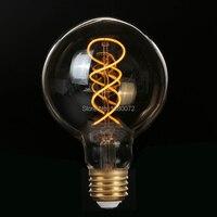 4W Dimmable Vintage Edison Bulbs LED Flexible Soft Filament Bulb G95 LED Light Bulb 110V 220V