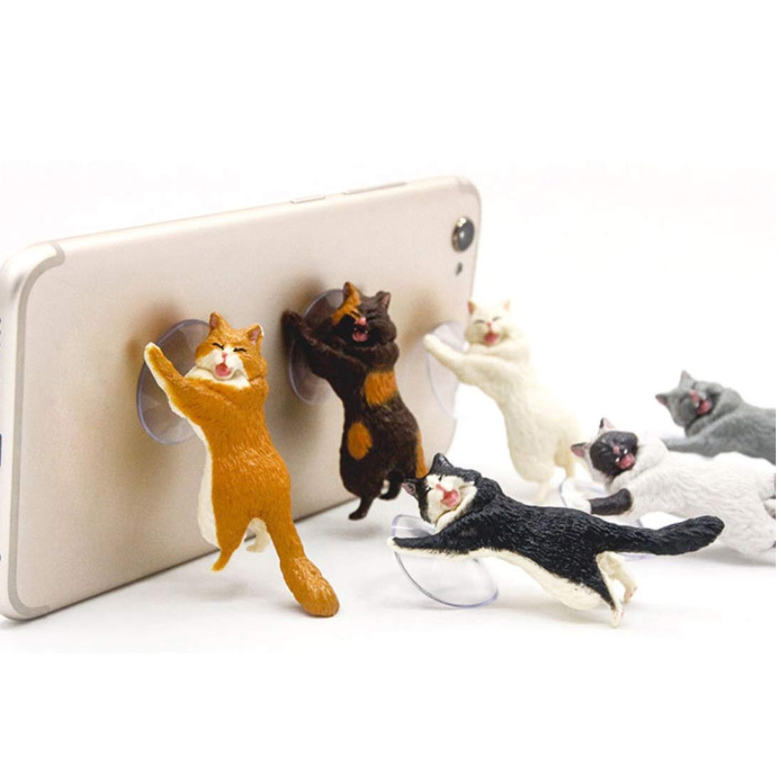 Animal Cute Cat Mobile phone Stand Holder Support Resin For Smartphone stand Stand Sucker Tablets Sucker Design
