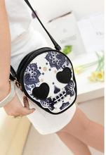 Wholesale New Bags Women Skull Head Shoulder Crossbody Small Personalized Messenger Bag Handbag Vintage Cute Style 2017