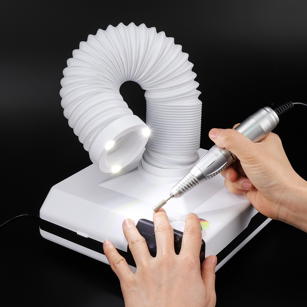 60W Powerful Nail Dust Collector Machine For Manicure Vacuum Cleaner For Nail Art Nail Fan Dust