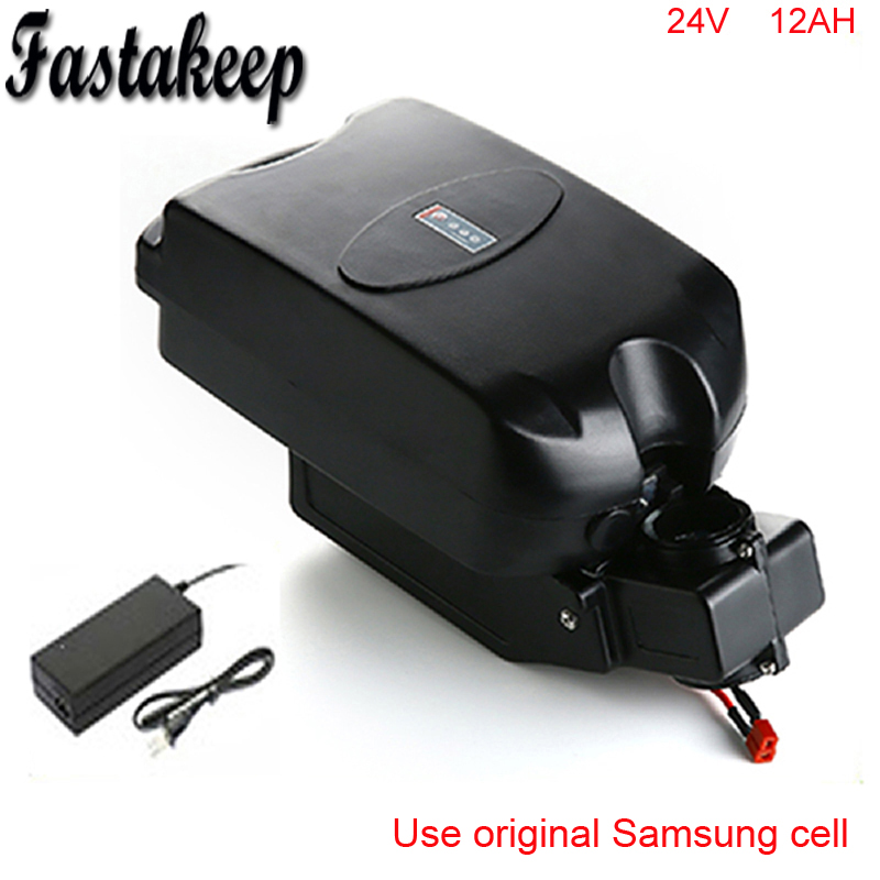 Ebike battery frog case 24v 12ah rechargeable battery with charger and bmsEbike battery frog case 24v 12ah rechargeable battery with charger and bms