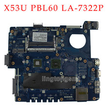 laptop motherboar for ASUS PBL60 LA-7322P fit for X53B K53B K53BY K53BR X53BY X53BR mainboard with AMD CPU tested good
