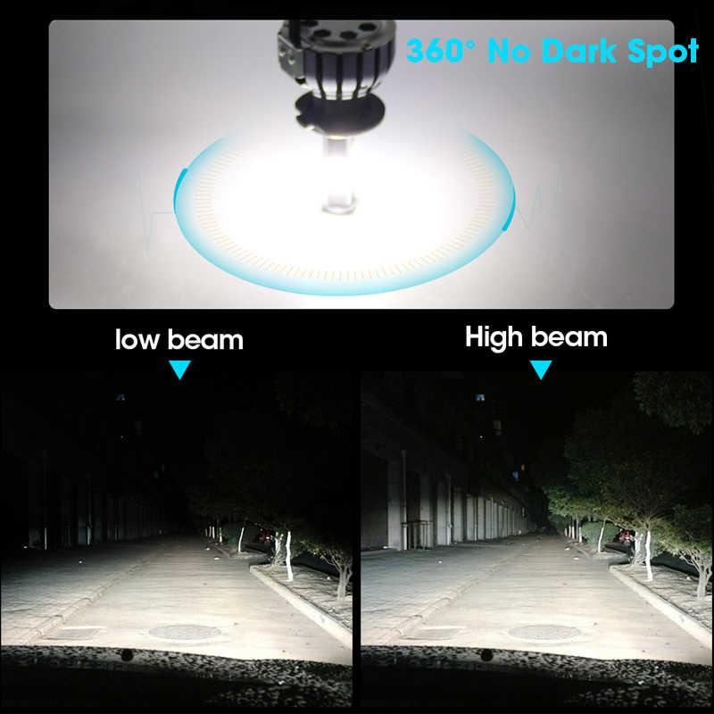 hlxg 4 Sides 12000LM H8 H11 Fog lights No Error h7 led canbus H4 LED Lamp HB3 9005 HB4 90W Auto bulb 12V 6000K 4300K 8000K 5000K