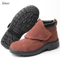 2017 trampki męskie bot wentylacji buty robocze bezpieczeństwo anti smashing boty odporne na Przebicie buty oddychające buty skórzane