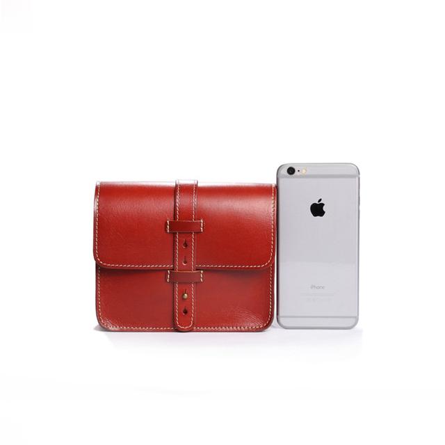 Ægte læder taske, Mini Mode