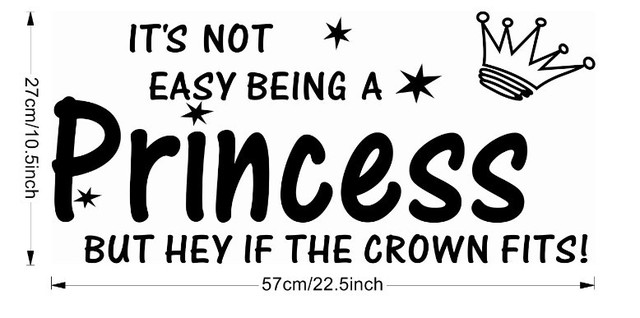 Christmas Quotes And Sayings Glitter Sticker Decal: Holiday Sale 2015 New Its Not Easy Being A Princess~ Wall