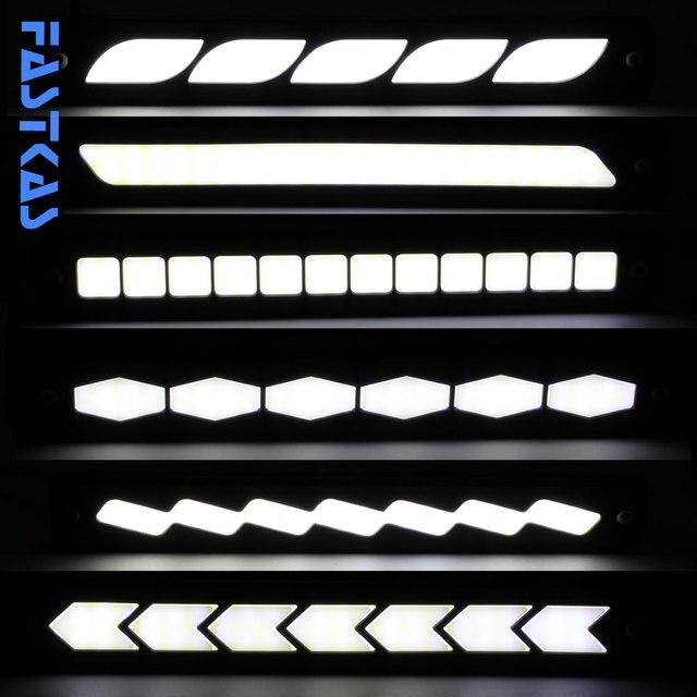 LED DRL Daytime Running Light 100% Waterproof COB White Color Day Light Fog Light Turning Signal Flexible Cars Running Light