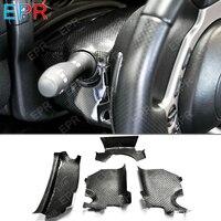 Para Nissan GTR da Fibra do Carbono R35 Direção Coluna Surround Guarnição Set 4 pcs (LHD) body Kit Parte Interior Para GTR R35 Tuning|Painéis de portas internas e peças| |  -