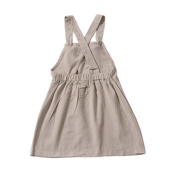 c579abdca Niños bebé niña vestido sin mangas de verano de Color sólido vestido lindo vestidos  de fiesta para niñas de cumpleaños chica ropa de vestidos