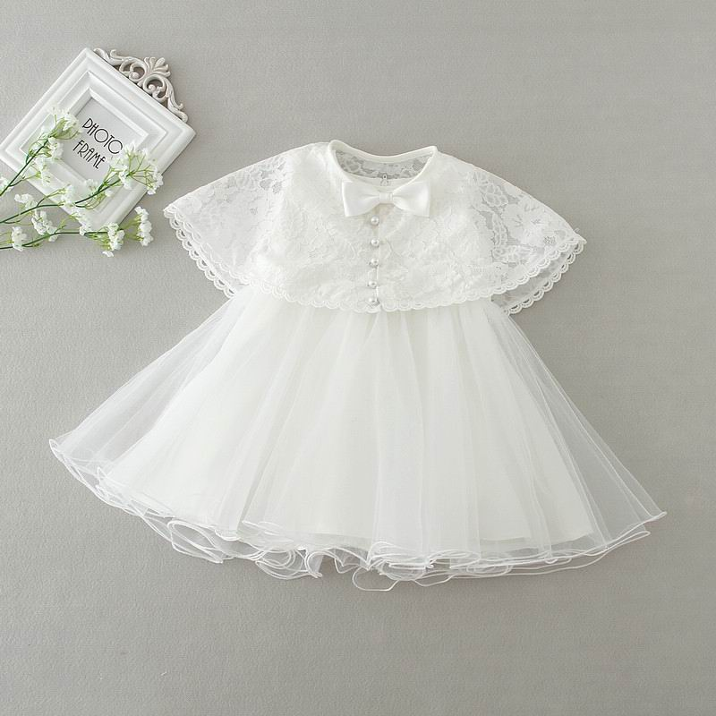0-2Y Infant Toddler Baby Girls Party Wedding Baptism Christening Gown Dresses