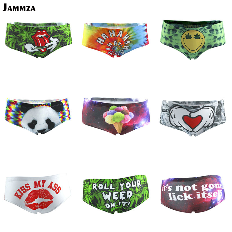 d204a2e11b Women New fashion panties cotton colorful rainbow funny Animal lips sexy  underwear 3D print low-rise cute cartoon japan briefs in Pakistan. Product  ...