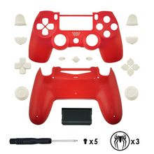 For PS4 Pro Replacement Full shell and buttons mod kit For DualShock 4 jds 040 PlayStation 4 PS4 Pro Slim стоимость