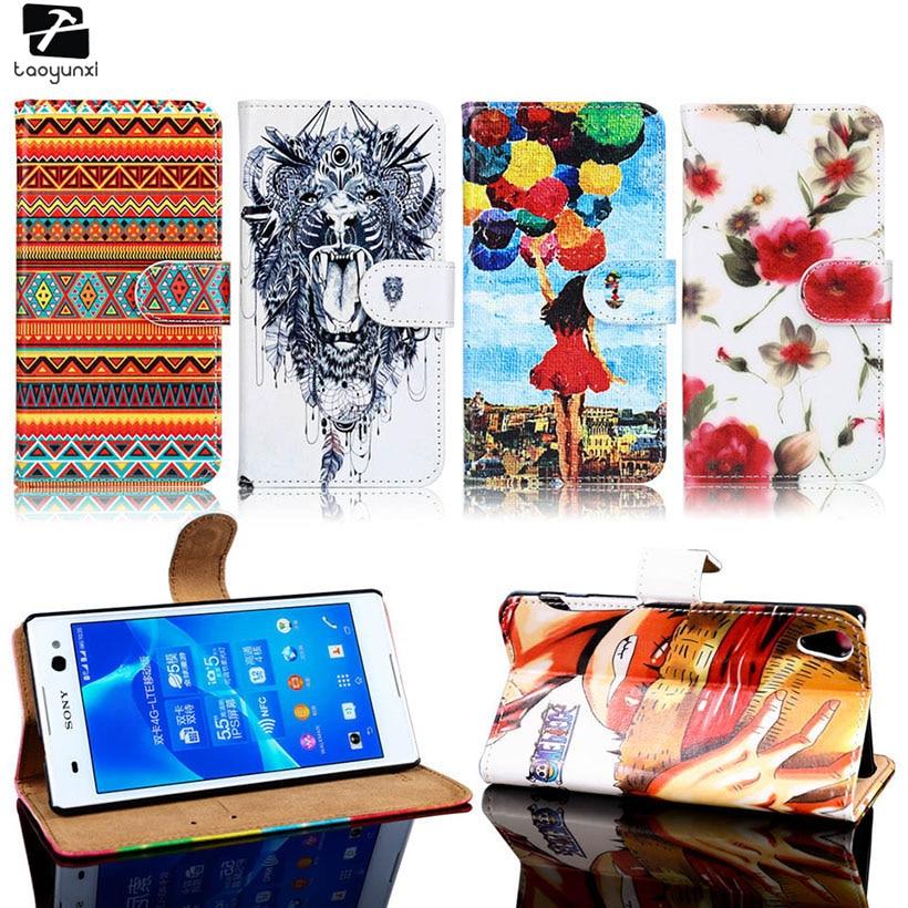 TAOYUNXI PU Cas de Téléphone En Cuir Pour Sony Xperia Z4 Z5 Z3 + Premium Plus Sac Couverture E6603 E6833 E6553 E6533 e6833 E6633 E6683 Z5 +