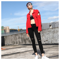 Women S New Spring Autumn Fashion Style Long Sleeve Jacket Coat Bandage Design Print Letters Loose