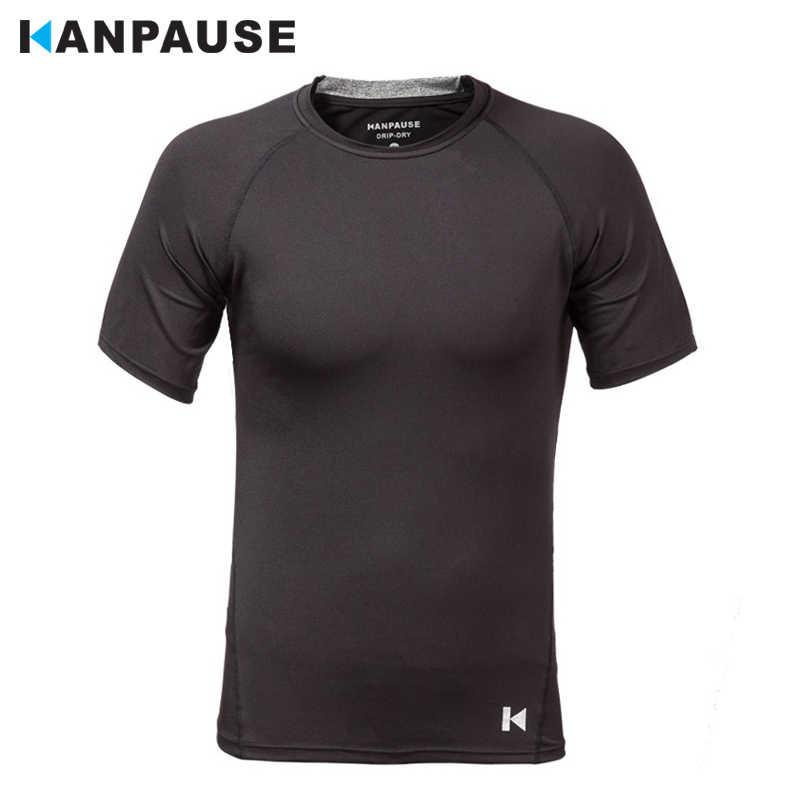 新到着 KANPAUSE メンズフィットネスタイト半袖トレーニング Tシャツランニングスポーツウェア