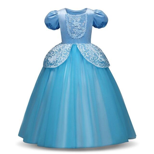 44fce086b € 4.13 20% de DESCUENTO|Vestidos de princesa para niñas Cenicienta Elsa  Anna Ariel Sofia vestido disfraces de princesa bebé niña tutú vestido de ...