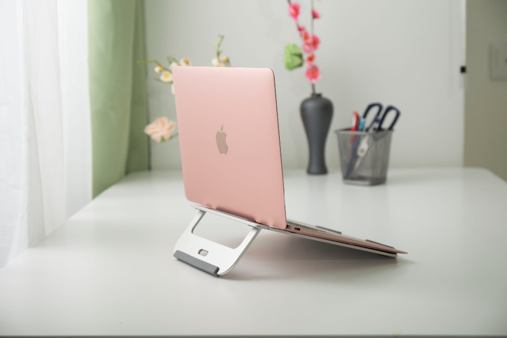 Silver Aluminum Laptop Stand Tablet Dock Holder Bracket Universal for Apple for Macbook Air Pro 11 12 13 15 iMac PC Notebook image