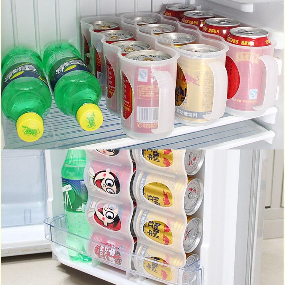 4 cajas organizadoras de cerveza caja de almacenamiento cocina Frige bebida soporte de botellas latas refrigerador bebida de cola ahorro de espacio TINTON LIFE Bolsas de almacenamiento Bolsas de conserva de alimentos 12 + 15 + 20 + 25 + 28 cm * 500 cm 5 Rollos/Lot