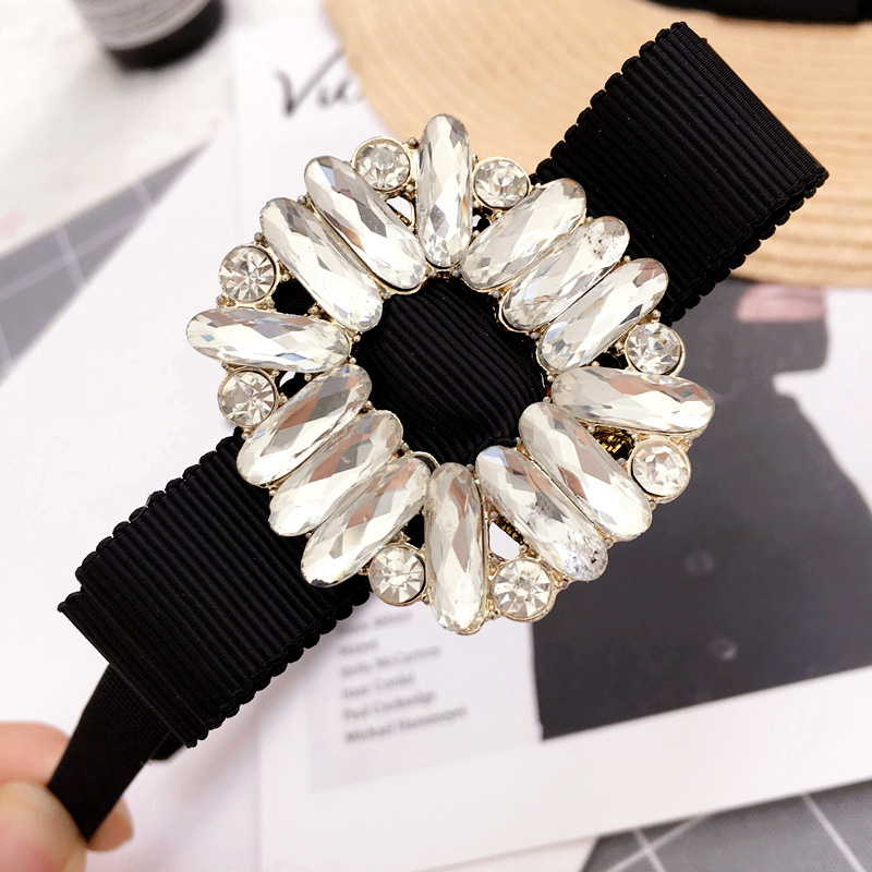 Korea Bilateral Bead Middle Knotted Hairbands Solid Hair Accessories Hairband Crown Headbands For Girls Hair Bows Girl's Hair Accessories