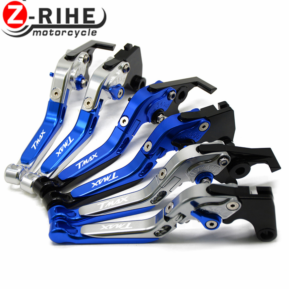 For LOGO TMAX For YAMAHA T-MAX 530 TMAX 530 T MAX 530 2008-2017 T-MAX 500 10-11 Motorcycle Folding Extendable Brake Clutch Lever for yamaha tmax tmax530 t max t max530 530 xp530 red blue new style blue logo motorcycle adjustable short brake clutch levers