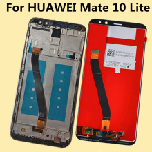 цена For HUAWEI Mate 10 Lite G10 Plus Lcd Display+Touch Screen For Huawei Mate10 Lite RNE L01 L02 L03 L21 L22 L23 Digiziter Assembly