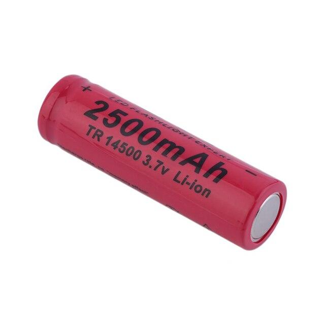 20 piezas batería recargable de litio, pila recargable con punta de 2500 V, linterna, acumulador de batería recargable, 14500 mAh, 3,7
